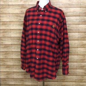 LRL oversized Plaid long sleeve shirt sz Lrg